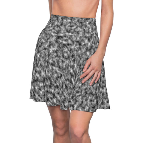 White and Black Clouds Skater Skirt