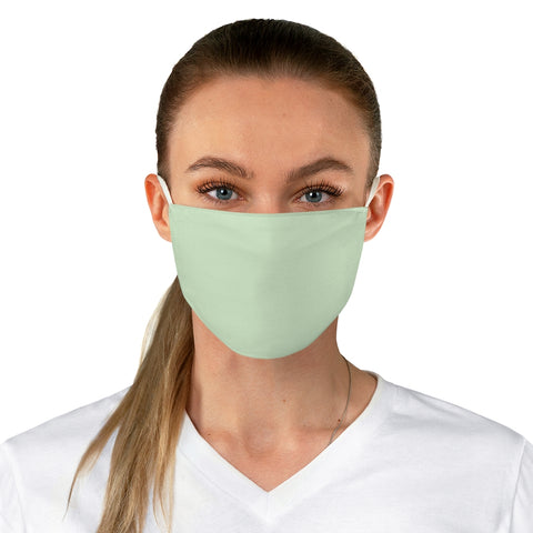 Pale Green Fabric Face Mask