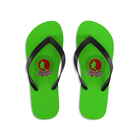 Beautiful Green Unisex Flip-Flops