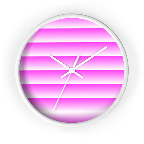 White and Pink Linear Wall Clock