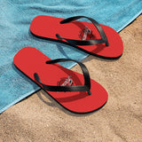 Awesome Red Unisex Flip-Flops