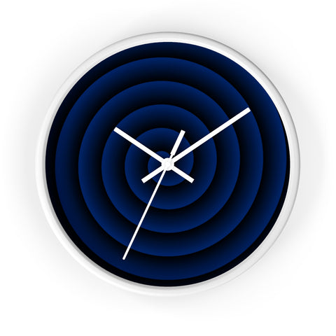 Blue Spiral Wall Clock