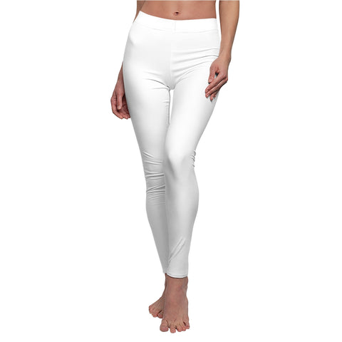 White Casual Leggings