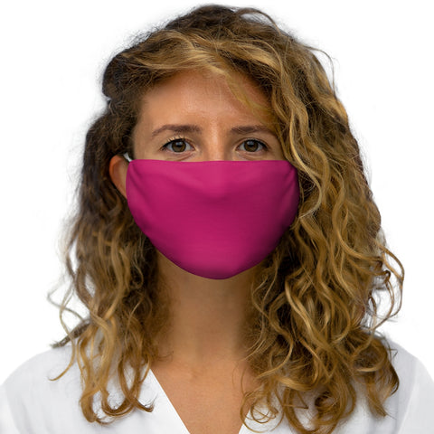 Solid Pink Raspberry Snug-Fit Polyester Face Mask