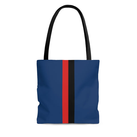 Solid Royal VBR Stripes Tote Bag