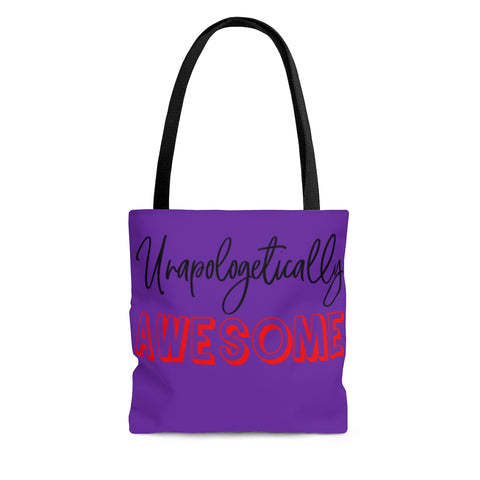 Unapologetically Awesome Grape Tote Bag