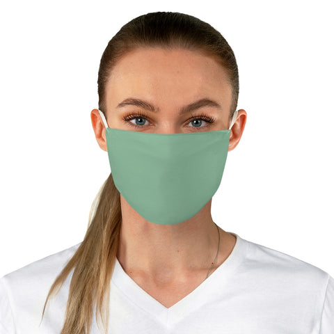 Solid Mint Fabric Face Mask