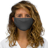 Solid Iron Grey Snug-Fit Polyester Face Mask