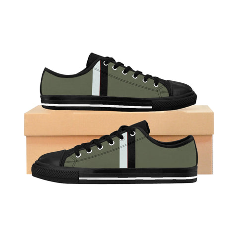 Heather Olive VBB Stripes Women's Sneakers