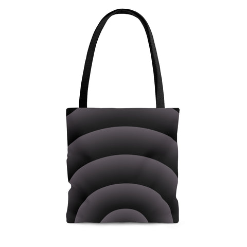 Gray Spiral Tote Bag