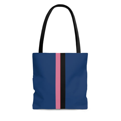 Solid Royal VPB Stripes Tote Bag
