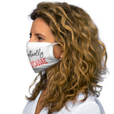 Unapologetically Awesome White Snug-Fit Polyester Face Mask