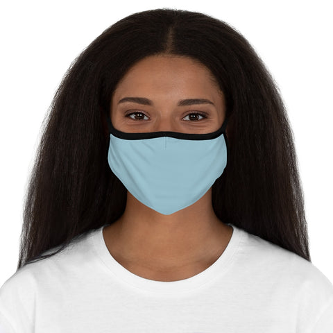 Light Blue Fitted Polyester Face Mask