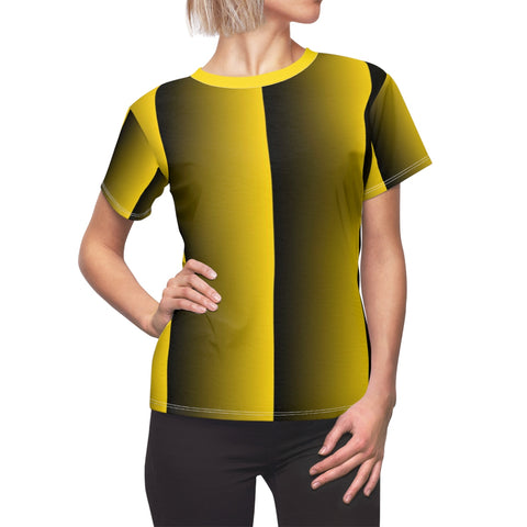 Gold and Black Vertical Women's Tee