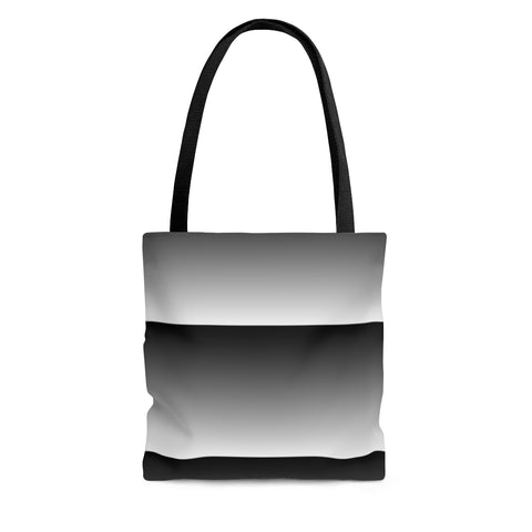 White Linear Tote Bag