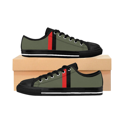 Heather Olive VBR Stripes Women's Sneakers