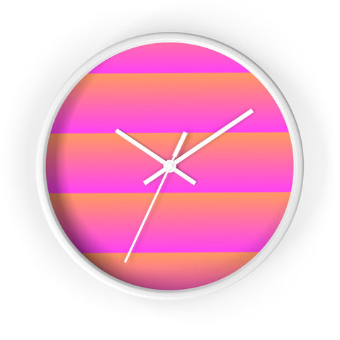 Pink and Orange Linear Wall Clock