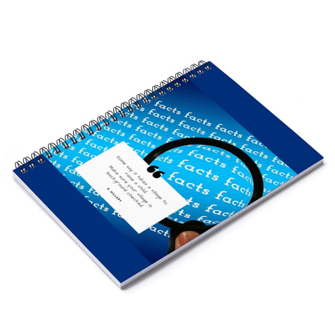 It Takes a Village Blue Spiral Notebook