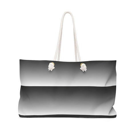 White Linear Weekender Bag