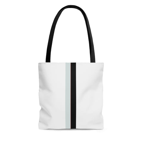 White VBB Stripes Tote Bag