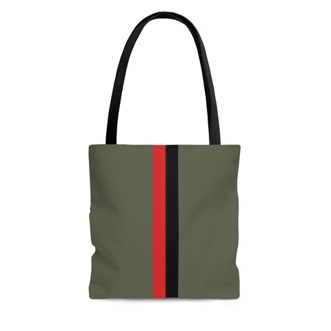 Heather Olive VBR Stripes Tote Bag