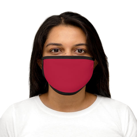 Solid Red Mixed-Fabric Face Mask
