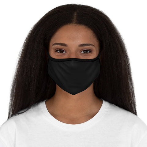 Black Fitted Polyester Face Mask