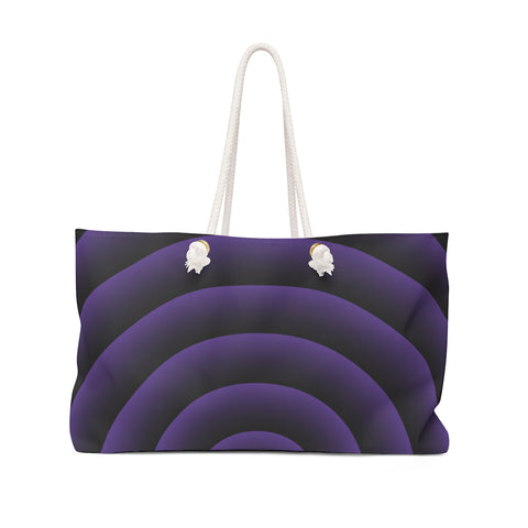 Purple Spiral Weekender Bag