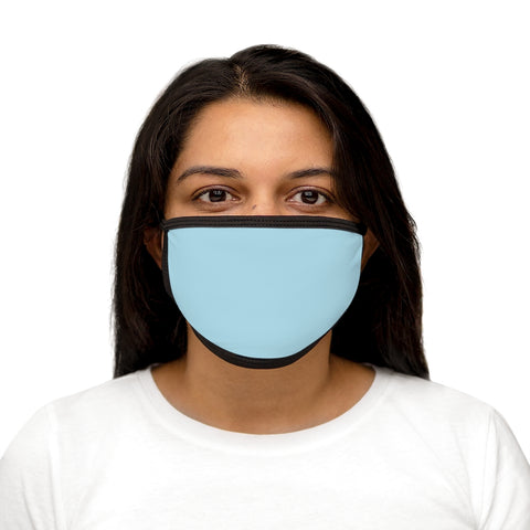 Light Blue Mixed-Fabric Face Mask