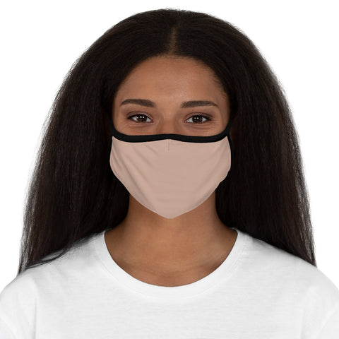 Pale Pink Fitted Polyester Face Mask
