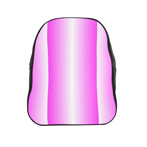 Pink and White Vertical Backpack