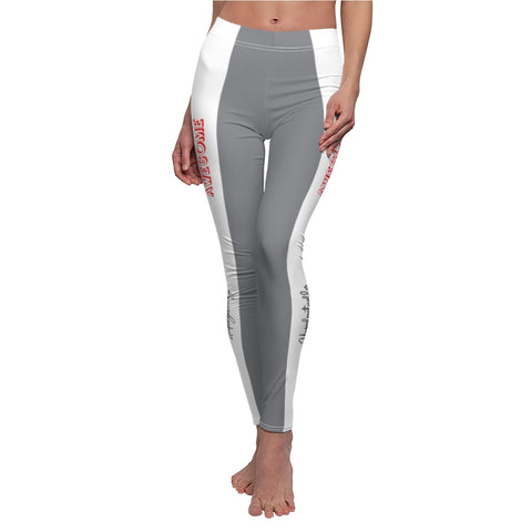 Unapologetically Awesome Black/Grey White Stripe Casual Leggings