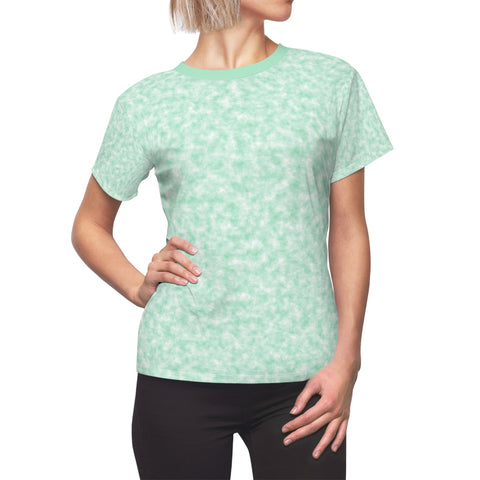 Seafoam Green and White Clouds Women's Tee