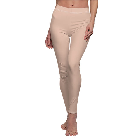 Pale Pink Casual Leggings