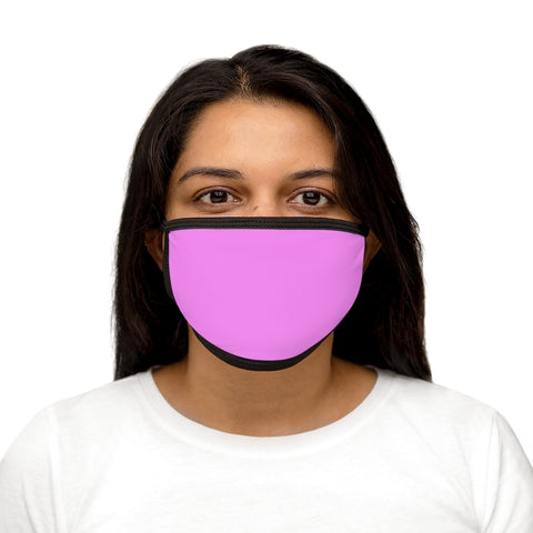 PW-Pink Mixed-Fabric Face Mask