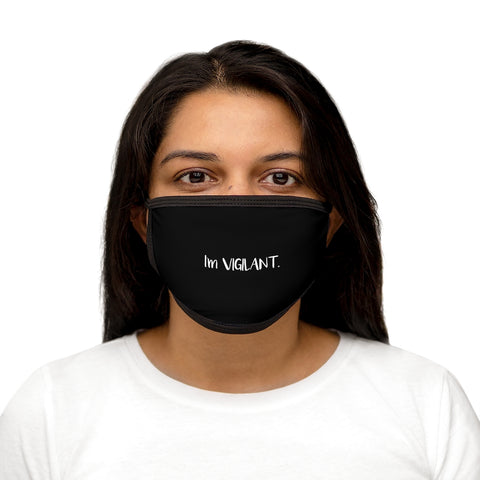 I'm Vigilant Black Mixed-Fabric Face Mask