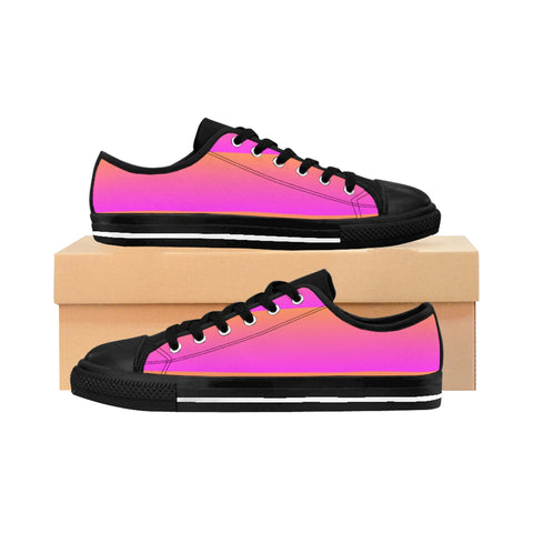 Pink and Orange Linear Women's Sneakers