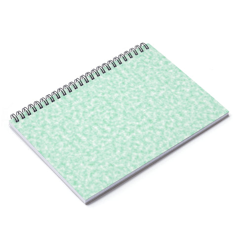 Seafoam Green and White Clouds Notebook - Ruled Line