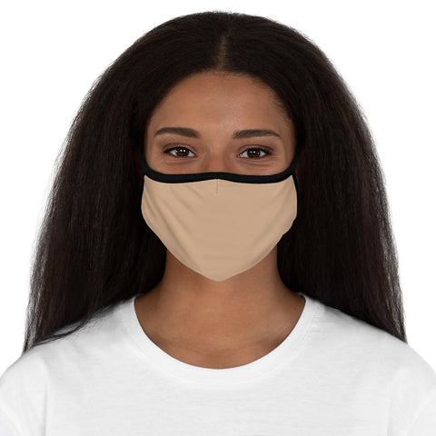 Nude Fitted Polyester Face Mask