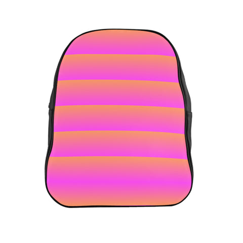 Pink and Orange Linear Backpack
