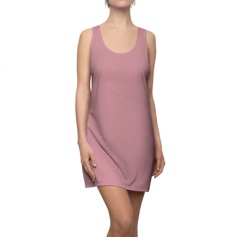 Solid Light Pink Racerback Dress