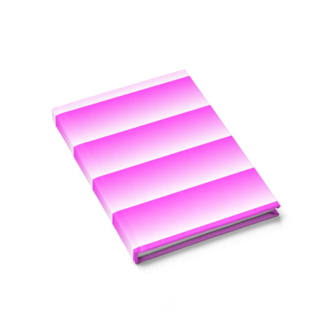 Pink and White Linear Journal - Ruled Line
