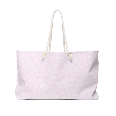 Light Magenta-Pink Clouds Weekender Bag