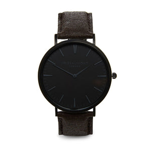 Mr Beaumont of London Men's Vegan Watch Black Face