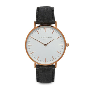 Elie Beaumont Oxford Vegan Personalised White Dial Watch