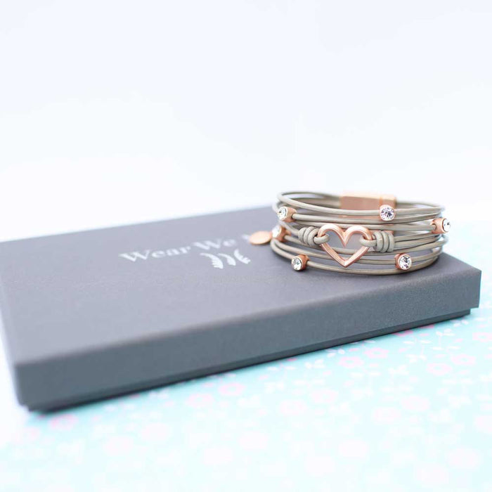 Wear We Met Heart Bracelet
