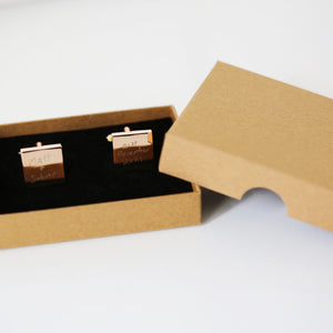 Engraved Own Actual Handwriting Cufflinks