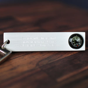 Compass Luggage Tag + Engraving