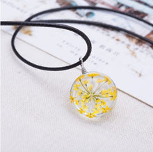 unique necklace yellow