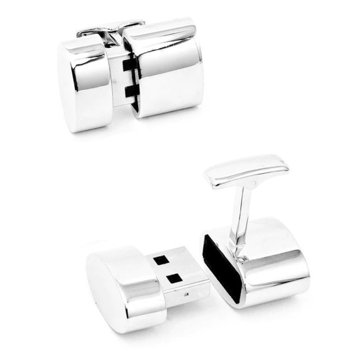 USB Cufflinks - Includes Engraving + Cufflink Box
